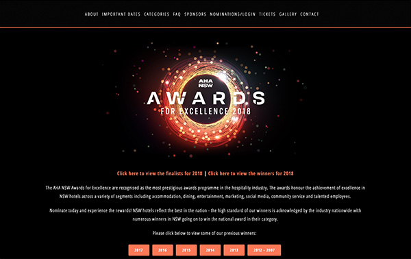 Australian Hotels Association Awards